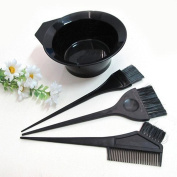 4 PCS Salon Hair Colouring Dyeing Kit Dye Brush Comb Bowl Tint Tool Kit