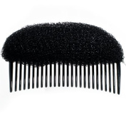 Womens Girls Extra Small 8.5cm Hair & Quiff Volume Booster Comb Styler / Shaper / Accessory - Black