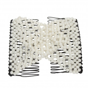 Just Fox - Trend Magic Combs Hair Clip Pearls in White
