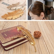 Gospire Leaf Shaped Hair Clip Feather Hair Clip Pin Claw Headwears Hair Accessories 2 Pack