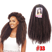 90cm 110 Grammes Afro Twist Braid Kanekalon Synthetic Marley Braiding Hair Extensions kinky twist hair extension one pack 30 pieces