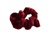 Velvet Hair Scrunchie, Red