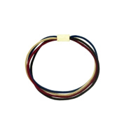 Women Elastic 4 Rows 1.5 mm Brown Burgundy Beige - Apple Tube - Gold