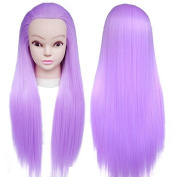 TOPBeauty 65cm Synthetic Hair Hairdressing Equipment Cosmetology Styling Head Doll Mannequin Training Head With Clamp