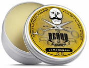 Lemongrass Moustache Wax (15ml) Premium Strong solution for styling twists,points, twizzles & curls - The Beard and The Wonderful