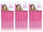 FLYing 24 Pretty Bendy Hair Rollers (3 x Packs of 8) - Create Curls & Waves Without the Need for Clips or Grips