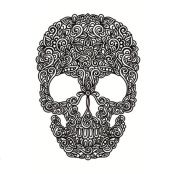 Covermason Creative Halloween Skull Handsome Unisex Waterproof Individuality Tattoo Stickers