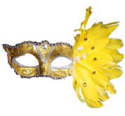 CINEEN Christmas Halloween Masquerade Feather Masks Feather Coloured Birthday Party