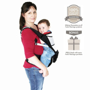 *SPECIAL LAUNCH PRICE* Premium Hipseat Ergonomic Baby Carrier | Enjoy Freedom With Your Child Whilst Protecting Your Spine | Unisex Black Colour | One Size Fits All | Suitable for 3 - 36 Months | Extra Strength Material |100% Infinity Guarantee | Ideal ..