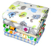 Baby Flannel Sheets 70/80 - 5 pack for a Boy - Nappies soft and cuddly