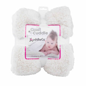 Comfi Cuddle Reversible Baby Blanket Super Soft -Pearl White