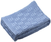 Sonnenstrick 610563326976 Baby Blanket 100 % Organic kbA Cotton 80 x 90 cm Light Blue