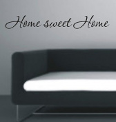 Vinylgraphicsonline Home Sweet Home Wall Art Sticker Quote Great Quality , Colour : Dark Blue , Size : 60Cm