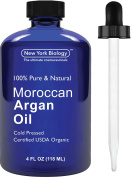 Moroccan Argan Oil for Hair, Face & Skin - Big 118 ML - USDA Certified Organic - 100% Pure & Natural Cold Pressed Extra Virgin Argan Oil