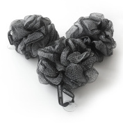 1541 London Large Exfoliating Bath & Shower Body Puff / Scrunchie / Buffer (Olive Black) 3 pack
