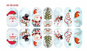 Cartoon Decal Nail Stickers Christmas Decoration Noctilucous YB-Q158 Nail Sticker Tattoo - FashionLife