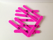 240/240 Grit Nail Files for Natural Nails NEON PINK by SB x10