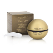 Simon & Tom PURE HYDRA Recovery Night Cream. Anti-ageing with Hyaluronic Acid, Argan Stem Cells and Argan Oil. Firms & Restores Elasticity. Reduces Wrinkles & Fine Lines. 50 ml