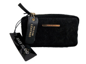 River Island Black Leather Cosmetic Bag