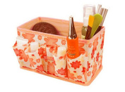 Bluester Makeup Cosmetic Storage Box Bag Bright Organiser Foldable Stationary Container Storage Toiletry