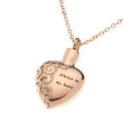 """Urns UK 2.5 x 1.8 x 0.3 cm """"Chelsea Design 13b"""" Cremation Ashes Jewellery Pendant with Chain, Rose Gold"""