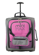 MiniMAX Childrens/Kids Cabin Luggage Carry On Trolley Suitcase with Backpack and Pouch for your Favourite Doll/Action Figure/Bear