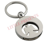 Presents Little Guardian Angel Key Ring / Angel with Removable Shopping Trolley Chip
