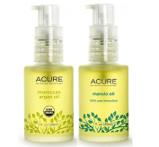 Acure 100% Organic Marula Oil and Argan Oil Bundle with Vitamin E Essential Fatty Acids, 30ml each