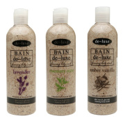 De-Luxe Bain Foaming Body Scrub Variety Pack - Lavender, Rosemary Mint, Amber Vanilla