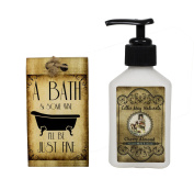 Lillie May Naturals A Bath and Some Wine Cherry Almond Goat Milk Soap and Lotion Gift Set
