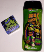 Teenage Mutant Ninja Turtles 240ml Mutant Mango Scented Body Wash And Magic Washcloth Bundle TMNT