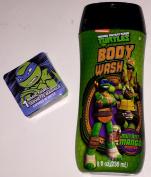 Teenage Mutant Ninja Turtles 240ml Mutant Mango Scented Body Wash And Magic Washcloth Bundle TMNT