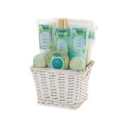 Cucumber and Basil Spa Bath Gift Basket Set