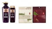 [Ryeo]Jayangyunmo Chinese herb Shampoo Anti Hair Loss For Oily Scalp400ml+180ml +2pc Illi Hydrogel Face mask sheet