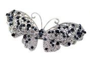1Pcs Butterfly Rhinestone Hairpin Tuck Comb Headwear Headdress Headgear