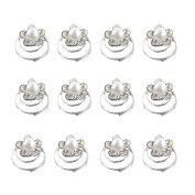 Bluelans 12 X Spiral Twist Pearl Crytal Bridal Wedding Clip Hair Pins