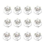 Bluelans 12 X Spiral Twist Pearl Crytal Bridal Wedding Clip Hair Pins