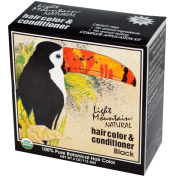 Light Mountain, Natural Hair Colour & Conditioner, Black, 120ml (113 g) - 2pc