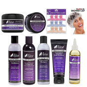Mane Choice Shampoo, Conditioner, 3 in 1 Conditioner, Green Tea Mask Treatment, Growth Oil, Hair Dressing, Edge Control, w/ Free Butterfly Clamps w/ Free eHairClub Shower Cap