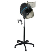 Super Deal Adjustable Hood Floor Hair Bonnet Dryer Stand Up Rolling Base with Wheels Salon Equipment