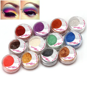Baisidai 12 Colour Individual Mineral Loose eyeshadow Powder Set