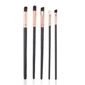 Baomabao 5pcs Eye Brushes Set Eyeshadow Foundation Mascara Makeup Tool