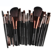 Baomabao 22pc Cosmetic Makeup Brush Blusher Eye Shadow Brushes Set Kit Gold