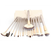 Baomabao 18pcs Makeup Brushes set Fondation Eyeshadow Cosmetic Tool with Leather