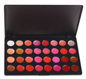 PhantomSky 32 Colour Cream Lip Gloss Makeup Palette Cosmetic Contouring Kit - Perfect for Professional and Daily Use