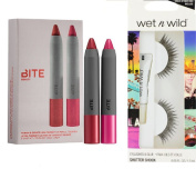 Bite Beauty The Perfect Pair High Pigment Pencil Lip Set Quince/ Tannin and a free set of wet'n wild faux eyelashes