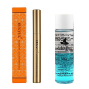 Korean Waterproof Moisture Curling No Smudge Mascara For Long Anad Dark Eyelashes Bundled With Lip & Eye Remover