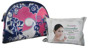 Travel Beauty Bag & Epielle cleansing tissues Bundle - Two Items