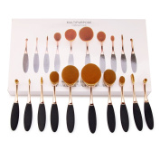 Amariver Makeup Concealer Powder Brush Set, 10pcs - Rose Gold Colour