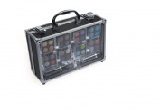 Cameo Cosmetics Carry All Trunk Train Case with Make Up and Reusable Acrylic Case